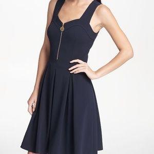 New DKNY half zip sweetheart neckline dress